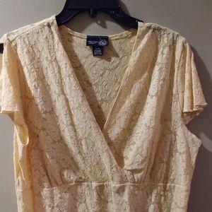 Venizia Lane Bryant lace blouse